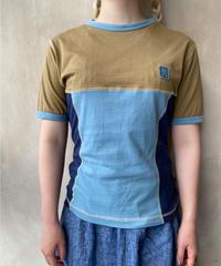 ブルーカーキ切替Tシャツ