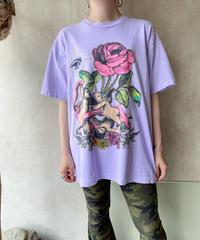 パープル天使バラTシャツ