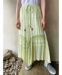 ケミカルインディアンペールグリーンロングスカート