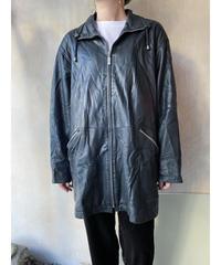 黒スタンドカラーレザージャケット