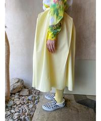 ペールイエロー変形スカート