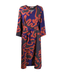 【HENRIK VIBSKOV】Abstract pattern belted one-piece