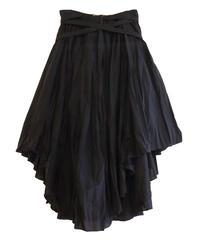 【NEHERA】Crinkled midi skirt/Black