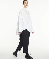 【STUDIO NICHOLSON】ASUKA powder cotton shirt/White