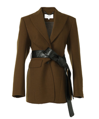 【AKIRANAKA】Cutting tailored jacket/ Beige