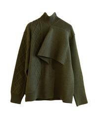 【AKIRANAKA】Eric knit/Khaki
