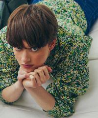 【KLOKE】Signal shirt lilac /GREEN  FLORAL
