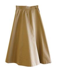【AKIRANAKA】Panel flare skirt/camel