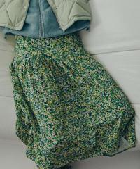 【KLOKE】Cosmic floral skirt/GREEN FLORAL