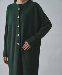 Henry neck knit one-piece / Dark Green