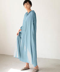 Cotton shirts one-piece/Blue