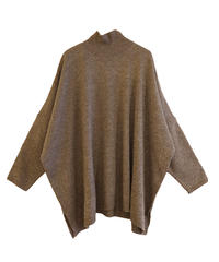 【Mal.】Square knit/Brown