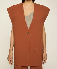 【AERON】Oversized suit vest/Terracotta