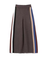 【AKIRA NAKA】Multicolor sideline knit pants