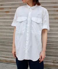 KLASICA / loose half sleeve shirt / WHITE