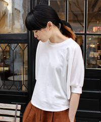 g. / Volume sleeve T-shirt / white, black