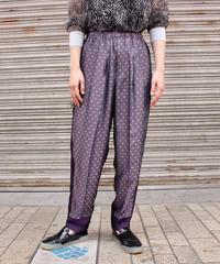 TOGA VIRILIS / Jacquard easy pants / purple