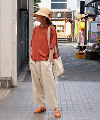 O project / WIDE FIT TEE / CORAL, SUMI