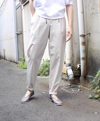 g. / Stretch taffeta lounge pants / beige, navy