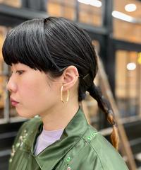 _Fot / Plate earring L-angular / gold