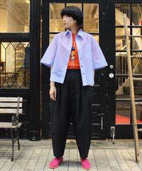 TOGA PULLA / Polyester mesh shirt / light purple