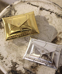 eb.a.gos / 型押し封筒型サイフ/ GOLD, SILVER