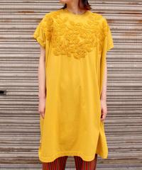 Edwina Hoerl / 刺繍入りカットソーワンピース / yellow