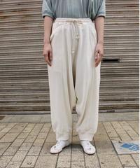 O project / SWEAT TRACK PANTS / KINARI, LT BROWN
