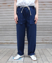 FRANK LEDER / DRAWSTRING TROUSERS / NAVY