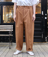 FRANK LEDER / ROOT DYED COTTON TROUSERS / DK BROWN
