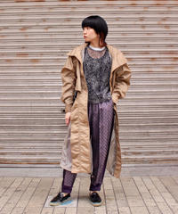 TOGA PULLA / Nylon ox long coat / beige