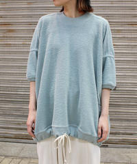 O project / SS WIDE FIT SWEAT / GRIS BLUE