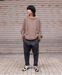 O project / KNITTED SS TEE / SMOKE