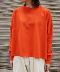 STUDIO NICHOLSON / MERCERISED COTTON TOPS / TOMATO