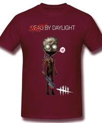 Dead by Daylight デフォルメ キャラクタープリント 半袖 Tシャツ キラー トラッパーデザイン Oネック コットン S~6XL ブラウン