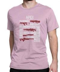 APEX LEGENDS スタイリッシュ レタープリント メンズ 半袖Tシャツ ガンシルエット 高品質 大人用 100%コットン サマートップス S~6XL ピンク