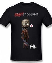 Dead by Daylight デフォルメ キャラクタープリント 半袖 Tシャツ キラー トラッパーデザイン Oネック コットン S~6XL ブラック