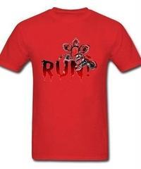 Dead by Daylight デモゴルゴン キラー ホラー 血文字デザイン RUN フロントプリント 半袖 メンズ Tシャツ XS~XXXL レッド