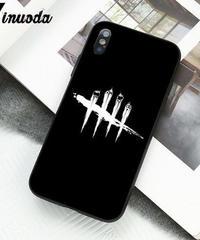 Dead by Daylight ゲームロゴ キラープリント 総柄 ホラー系 iPhoneケース X XS MAX XR対応 ソフトシリコン バックケース