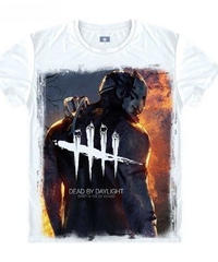 Dead by Daylight トラッパー パーク フロントプリント ホワイト メンズ 半袖 Tシャツ カジュアル トップス 12タイプ S~XXXL