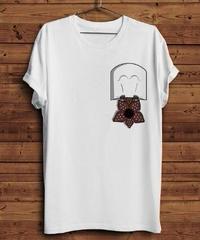 Dead by Daylight キラー デモゴルゴン さかさまポケット ユニークデザイン メンズ 半袖 Tシャツ ホワイトカラー S~XXXL