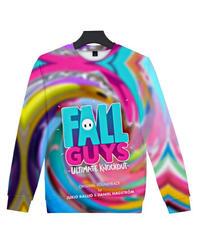 Fall Guys フォールガイズ ロゴ キャラクター フルプリント 長袖 クルーネック スウェットシャツ ユニセックス ルームウェア XXS~4XL 06252