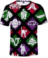 【備考欄要サイズ記載】Dead by Daylight パーク コラージュ風 プリント ユニセックス ブラック 半袖 Tシャツ トップス XXS~4XL
