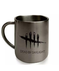 Dead by Daylight ロゴデザイン ステンレス マグカップ シルバー アウトドア コップ インテリアにも。