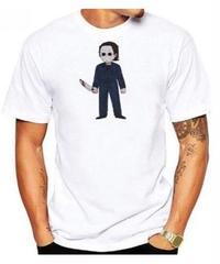 Dead by Daylight キラー シェイプ デフォルメイラスト コミカルプリント 半袖 ホワイトカラー メンズ TシャツS~XXXL
