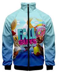 Fall Guys フォールガイズ フルプリント 総柄 フロントジッパー 長袖 メンズ パーカー カラフル ユニセックス 秋冬 アウター XXS~4XL 06246