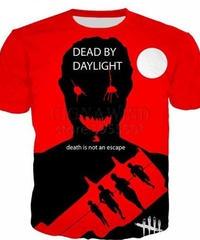 Dead by Daylight キラー フロントプリント レッドカラー 半袖Tシャツ 3Dプリント ゲーミングトップス S~5XL 男女兼用