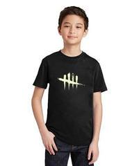 Dead by Daylight ルミナス 5ラインロゴ フロントデザイン キッズ 半袖 Tシャツ 暗闇で光る ユニーク 夏服 子供服 2T~10 ブラック
