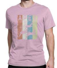 APEX LEGENDS レトロ イラストデザイン メンズ 半袖Tシャツ プリント サマー トップス 高品質 大人用 100%コットン  S~6XL ピンク