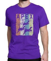 APEX LEGENDS レトロ イラストデザイン メンズ 半袖Tシャツ プリント サマー トップス 高品質 大人用 100%コットン  S~6XL パープル